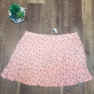 NEW!!! Girls Justice floral skirt with built in sh